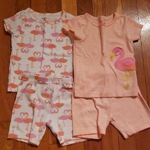 Set of flamingo pajamas